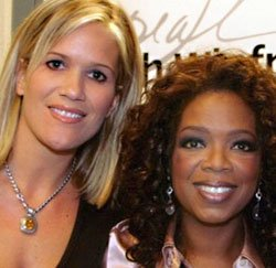 Lilou Mace meets with Oprah Winfrey