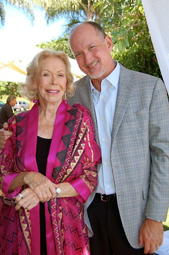 Reid Tracy with Louise Hay